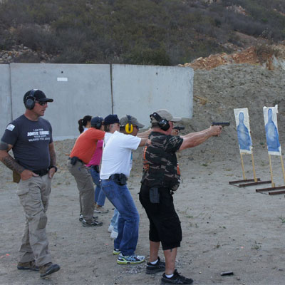 ASDS Instructor teaching combat pistol 1 course