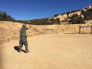 pistol student shooting plate rack