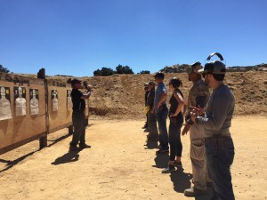 Matt Klier teaching pistol course