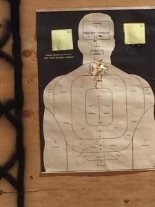 Combat pistol target