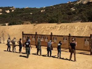 students shooting targets