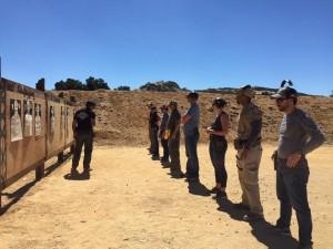 Pistol combat course